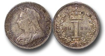 World Coins - EM616 - Great Britain, Victoria (1837-1901), Silver Maundy Penny, 1899