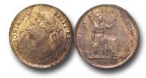 World Coins - EM475 -  Great Britain,  Victoria   (1837-1901), Bronze Farthing, 1884