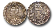 World Coins - EM601 - Great Britain, Victoria (1837-1901), Silver Maundy Penny,  1888
