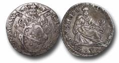 World Coins - ME9069 - ITALY, Papal Coinage, Clement VIII (1592-1605), Silver Testone, 31mm, 9.15g., Rome mint