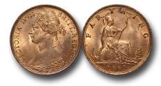 World Coins - EM117 - GREAT BRITAIN, Victoria   (1837-1901), Bronze Farthing, 1861