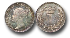 World Coins - EM501 - Great Britain, Victoria   (1837-1901), Silver Maundy Penny, 1877
