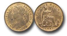 World Coins - MD1349 - Great Britain,  Victoria  (1837-1901), Bronze Farthing, 1887