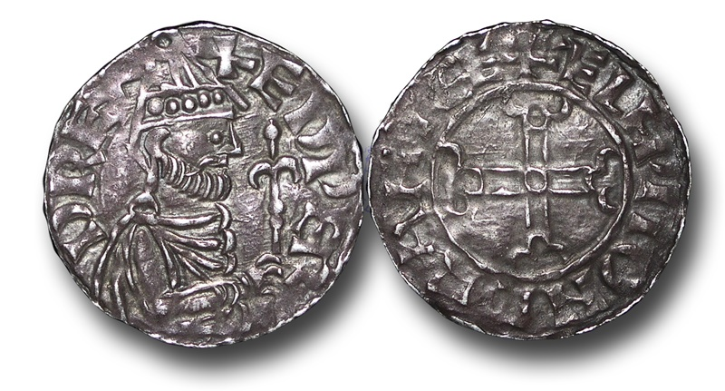 World Coins - TP10 - England, Anglo-Saxon, Edward the Confessor 	(1042-1066), Silver Penny, 1.33g., 20mm, Hammer Cross type (1059-62), Cambridge - Ælfwig