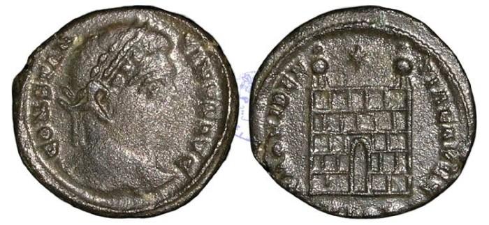 Ancient Coins - K112 - Constantine I, as Augustus (A.D. 307-337), Bronze Folles, 2.90g., London mint, Ex Killingholme Hoard, Deposited c. A.D.  333-334 (North Lincolnshire, England)