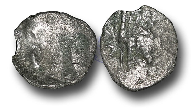 Ancient Coins - AB160 - BRITISH CELTIC, Durotriges (last half of the 1st Century B.C.), Silver Quarter Stater, 0.80g., Geometric type