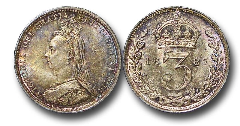 World Coins - MD1525 - Great Britain, Victoria (1837-1901), Silver Threepence, 1887