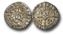 World Coins - H4283 - ENGLAND, Henry VI, First Reign (1422-1461), Silver Penny, 0.91g., Rosette-mascle issue (1430-31), York mint, crowned facing bust, crosses by crown