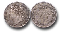 World Coins - EM154 - GREAT BRITAIN, George IV (1820-1830),  Silver Maundy  Fourpence, 1828