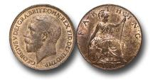 World Coins - EM353 –  Great Britain, George V (1910-1936), Bronze Farthng, 1919