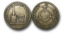 World Coins - M521 - GREAT BRITAIN, George I (1714-1727), Preservation of the Church of England, 1714, Brass Medal