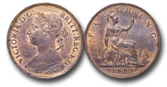 World Coins - EM626 - Great Britain, Victoria (1837-1901), Bronze Farthing, 1884