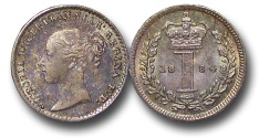 World Coins - EM615 - Great Britain, Victoria (1837-1901), Silver Maundy Penny, 1884