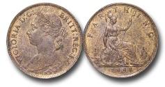 World Coins - EM625 - Great Britain, Victoria (1837-1901), Bronze Farthing, 1884