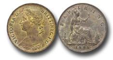 World Coins - EM471 -  Great Britain,  Victoria   (1837-1901), Bronze Farthing, 1885