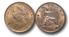 World Coins - MD1345 - Great Britain,  Victoria  (1837-1901), Bronze Farthing, 1885