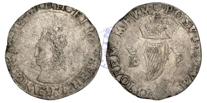 Ancient Coins - IR135 - IRELAND, Elizabeth I (1558-1603), Groat, 2.55g., Base Coinage of 1558, m.m. rose