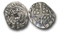 World Coins - H3172 - ENGLAND, Henry VI, First Reign (1422-1461), Penny, 0.88g., Cross-pellet issue (1454-60), York mint, Archbishop Booth, initial mark Cross Fleury, local dies