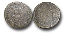 World Coins - H4459 - ENGLAND, Charles I (1625-1649), Copper Pattern Halfgroat, 1.68g., m.m. Pansy