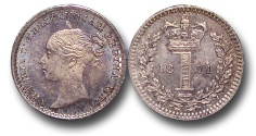 World Coins - EM634 - Great Britain, Victoria (1837-1901), Silver Maundy Penny,  1871