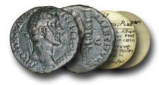 Ancient Coins - R9001 - Antoninus Pius  (138-161), Copper As, ex William C. Boyd Collection (1840-1906)