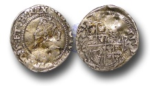 World Coins - H1523 – ENGLAND, STUART, CHARLES I (1625-1649), Penny, 0.49g., Group E, Tower Mint
