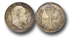 World Coins - EM498 – Great Britain,  Edward VII (1901-1910), Silver Maundy Penny, 1902