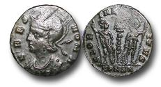Ancient Coins - R16137 - Constantinian Commemorative Issue, Dedicated to the city of Rome (A.D. 333-335), Bronze Follis, 1.57g., 16mm, Constantinople mint (Istanbul, Turkey), fifth officina