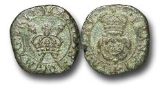 World Coins - MD1229 - ENGLAND and IRELAND, Charles I (1625-1649), Copper 'Rose' Farthing