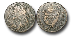 World Coins - IR1636 - IRELAND, James II (1685-1691), John Knox's Coinage, Copper Halfpenny, 1686