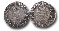 World Coins - IJF19 - IRELAND, James I  (1603-1625), Sixpence, 2.21g., 24mm, First Coinage (1603-1604), m.m. Bell, 1st bust