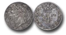 World Coins - MD1138 - Great Britain, George IV (1820-1830),  Silver Maundy   Fourpence, 1830