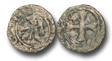 World Coins - CS78 - CRUSADER STATES, CYPRUS, James I (1382-1398), Billon Denier, 0.51g., Famagusta mint