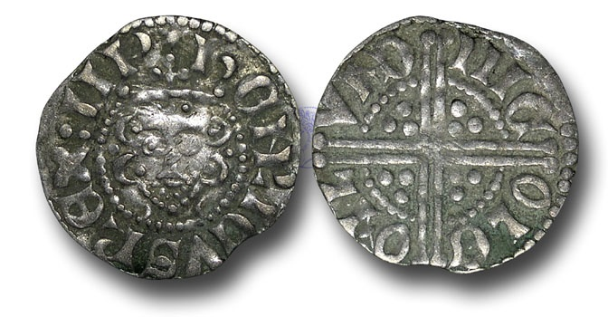 World Coins - VLC433 - ENGLAND, Henry III (1216-1272), Penny, 1.43g., Voided Long Cross Coinage, Class 3c, (1248-1250), Nicole - London