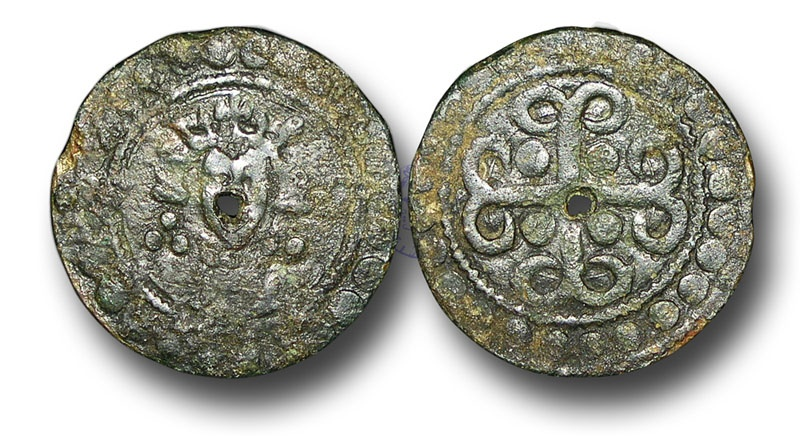 World Coins - H5212 - ENGLAND, PLANTAGENET (c.1302-1350), Time of Edward I-III, Sterling Bust type, Copper Jeton