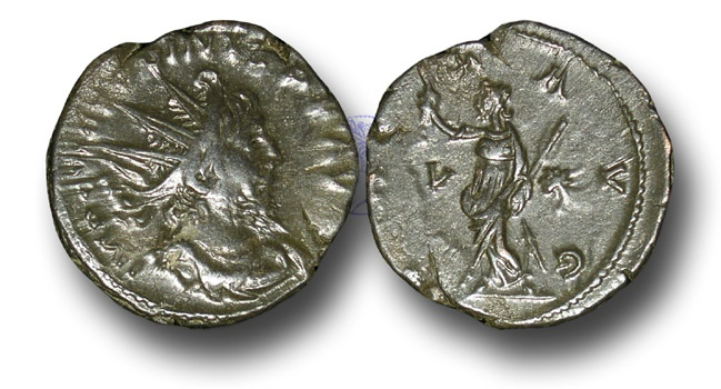 Ancient Coins - BR79 - The Gallic Empire, Victorinus (A.D. 268-270), AE Antoninianus, ex Braithwell Hoard, England, 2002.