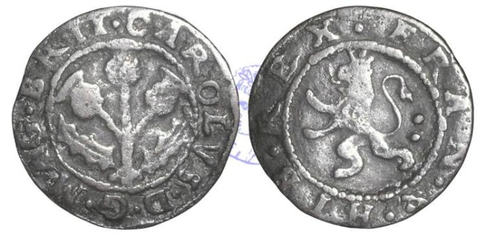 Ancient Coins - S48 - SCOTLAND, Charles I (1625-1649),  Copper Twopence, 1.90g., Coinage of 1629
