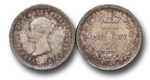 World Coins - EM491 - Great Britain, Victoria   (1837-1901), Silver Maundy Twopence, 1887