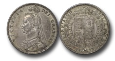 World Coins - EM580 - Great Britain, Victoria 	(1837-1901), Halfcrown, 1887, Jubilee Head Coinage