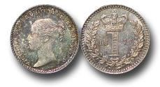 World Coins - MD1501 - Great Britain, Victoria   (1837-1901), Silver Maundy Penny, 1877, UNC