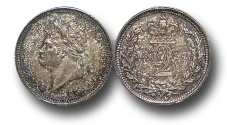 World Coins - EM410 - Great Britain, George IV  (1820-1830),  Silver Maundy Twopence, 1828