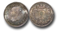 World Coins -  EM443 - Great Britain, Victoria (1837-1901), Silver Maundy Twopence, 1871