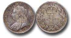 World Coins - EM614 - Great Britain, Victoria (1837-1901), Silver Maundy Penny, 1894