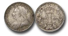 World Coins - MD1558 - Great Britain, Victoria  (1837-1901), Silver Maundy Penny, 1893