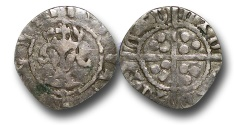 World Coins - H5332 - England, Contemporary Imitation (c.1300-c.1400), Silver Base Metal Penny