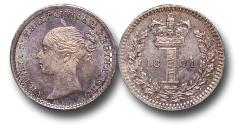 World Coins - MD1634 - Great Britain, Victoria (1837-1901), Silver Maundy Penny,  1871