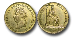 World Coins - M401 - GREAT BRITAIN, George IV (1820-1830), Brass Coronation Medalet, 1821