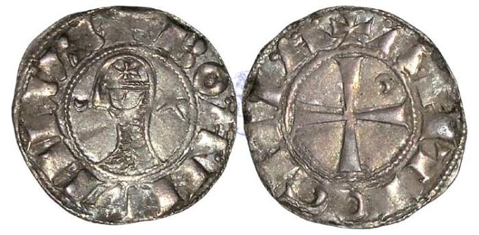 Ancient Coins - ME61 - CRUSADER STATES, Principality of Antioch, Bohemond III (1163-1201), Billon Denier, 0.94g., Class B, Antioch mint (Antakya, Turkey)