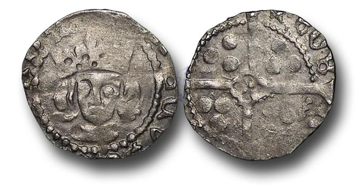 World Coins - H5325 - ENGLAND, Edward IV, First Reign (1461-1470 / 1471- 1483), Silver Penny, 0.55g., 15mm, Contemporary Forgery, Ex Queenhithe Dock Hoard