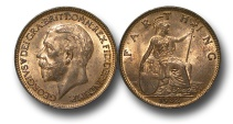 World Coins - EM425 –  Great Britain, George V (1910-1936), Bronze Farthing, 1932